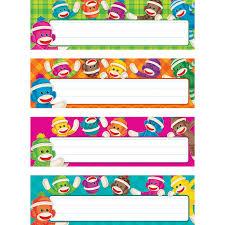 sock monkeys desk name plates variety pack