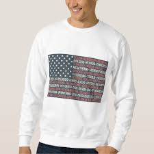 american flag word art vintage faded american flag state names words art sweatshirt