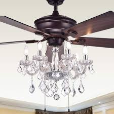 Crystal Light Fixture For Ceiling Fan 52 Inch 5 Blade Ceiling Fan With Crystal Chandelier