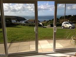 image of modern double sliding patio doors