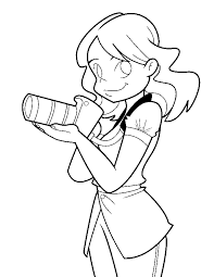 Small Picture A girl with a camera coloring page Boys pages of