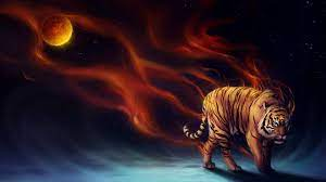 Art Tiger Abstract Wallpaper HD Desktop ...
