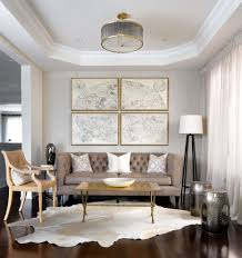 Wall Collage Living Room Bassett Mirror Company For A Contemporary Living Room With A Map