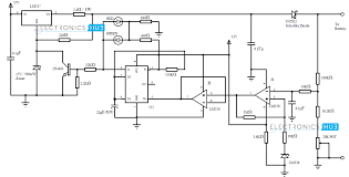 automatic v portable battery charger circuit using lm automatic battery charger circuit diagram