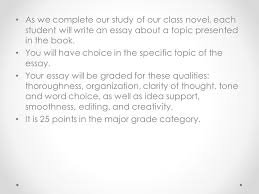 a summer of kings essay get ready to write as we complete our  as we complete our study of our class novel each student will write an essay