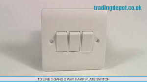 trading depot td line 3 gang 2 way 6 amp plate switch part no 3 gang switch wiring diagram trading depot td line 3 gang 2 way 6 amp plate switch part no tlv306 youtube