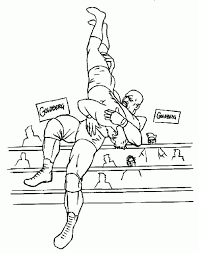 Wwe Professional Wrestling Coloring Page For Boys Sports Coloring