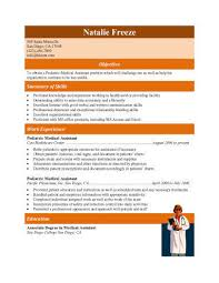 Experienced Pediatric Medical Assistant Resume