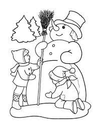 Disegno Di Bambini Giocano Con La Neve Da Colorare Disegni Da