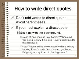 """How To Write A Quote Interesting Quotes And Attribution"""" I Said Ppt Download"""
