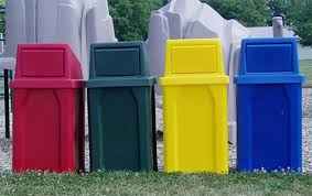 decorative outdoor trash containers designs