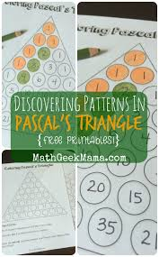 Exploring Patterns In Pascals Triangle Free Printables