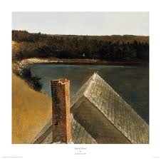 this scene was painted in tempera by andrew wyeth in 1969 and features a view