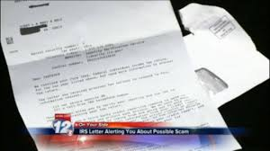 OYS IRS letter warning scam