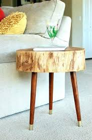 tree trunk end table pleasant wood stump coffee tables base uk tree stump end table p26