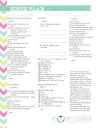 Birth Plan For C Section Template Free Birth Plan Template Iamfree Club
