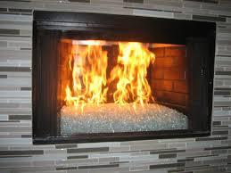 mosaic tile around fireplace