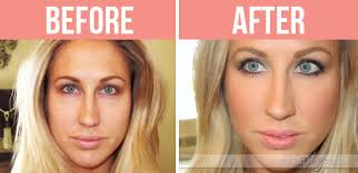 bare minerals before and after. tara flawlessface before after bare minerals and d