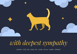 Card For Loss Of Pet Customize 162 Pet Sympathy Card Templates Online Canva