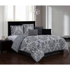 kadia 7 piece black gray queen comforter set w bedskirt kad7csquenghbg the home depot