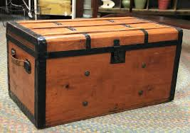 antique wooden trunk sold vintage chest coffee table dealer