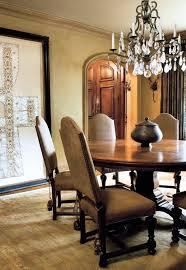 mediterranean dining room furniture. Round Dining Table, Rug \u0026 Large Mirror Arrangement Idea In Mediterranean Room - Oversized Furniture D