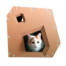 Cardboard House For Cats Soho Cardboard Cat Housecat Furniturecat Toycat Bedcat Cave