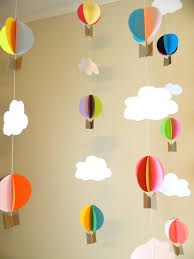 diy hot air balloon decor oh the places youll go hot air balloon garland up on