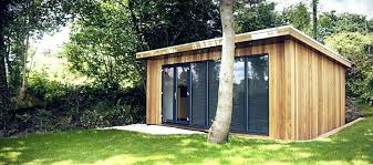 home office in the garden. Delighful Home Garden Pods Office Home Study And Hobby Space  Rattan   With Home Office In The Garden