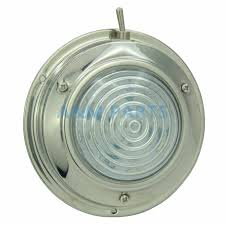 Led Dome Light With Switch 12v Boat Caravan Marine Rv Cabin Interior Decorative Lamp Stainless Steel Housing 4 5 Inch Cool White