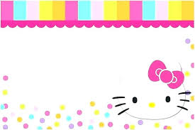 Hello Kitty Free Templates Birthday Invitation Template
