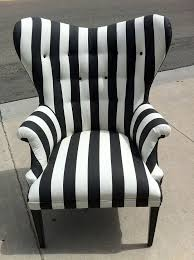 black and white striped accent chair hometrends