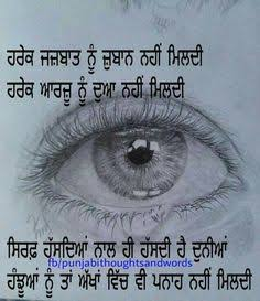 shayari on eyes in punjabi