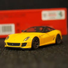 Embroidered black prancing horse headrest. Kyosho Ferrari 599 Gto Yellow Toys Games Bricks Figurines On Carousell