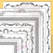 Certificate Borders For Word Simple Page Border Certificate Frames Vintage Borders Great As Award Etsy