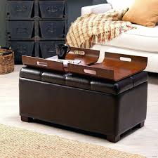 distressed leather ottomans home design ottoman bench rectangle concept ottoman with storage and tray