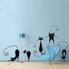 Black Cats Wall Sticker Removable Vinyl DIY Wall Decal Ideal For ...