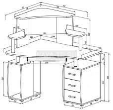 <b>Угловой компьютерный стол</b> КС-12У Ибис с надстройкой КН-1 С ...