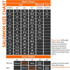 salomon size charts nike running shoes size chart shoes corner