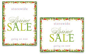 Floral Borders For Word Floral Border Sale Poster Template Word Publisher