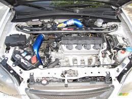 2003 Honda Civic EX Coupe 1.7 Liter SOHC 16V VTEC 4 Cylinder ...