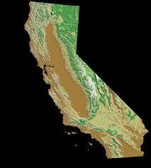 california relief map