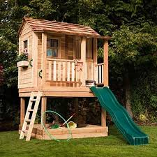 15 amazing outdoor playhouse ideas rilane backyard clubhouse two story with a tent1 12 free playhouse plans