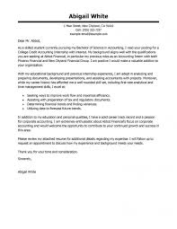 Accounting Intern Cover Letter Sample Asli Aetherair Within Resume