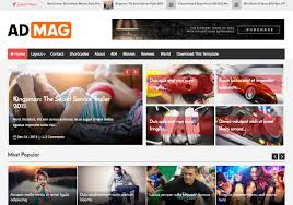 Template For Advertising Ad Mag Blogger Template Blogspot Templates 2019