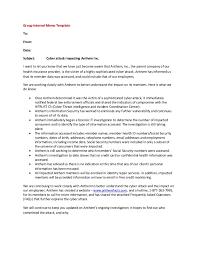 internal memo samples employer group internal memo template