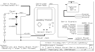 flash cart design simple i o this diagram a connector is added to the top of a mbc5 cart that allows directly plugging 4 servos into the cart itself only the top 4 white wires in