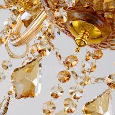 light candle type champagne large crystal chandelier module 82