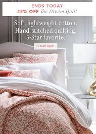 Garnet Hill: 25% Dream Quilt Savings end TODAY — click, save dream ... & The Dream Quilt Adamdwight.com