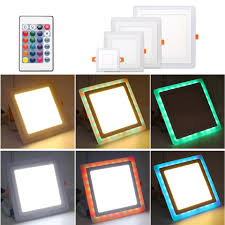 Ultra Thin Led Panel Light Dual Color Rgbw Rgbww With Rgb Remote Acrylic Surface Mounted Led Downlight Ceiling Lamp Ac85 265v